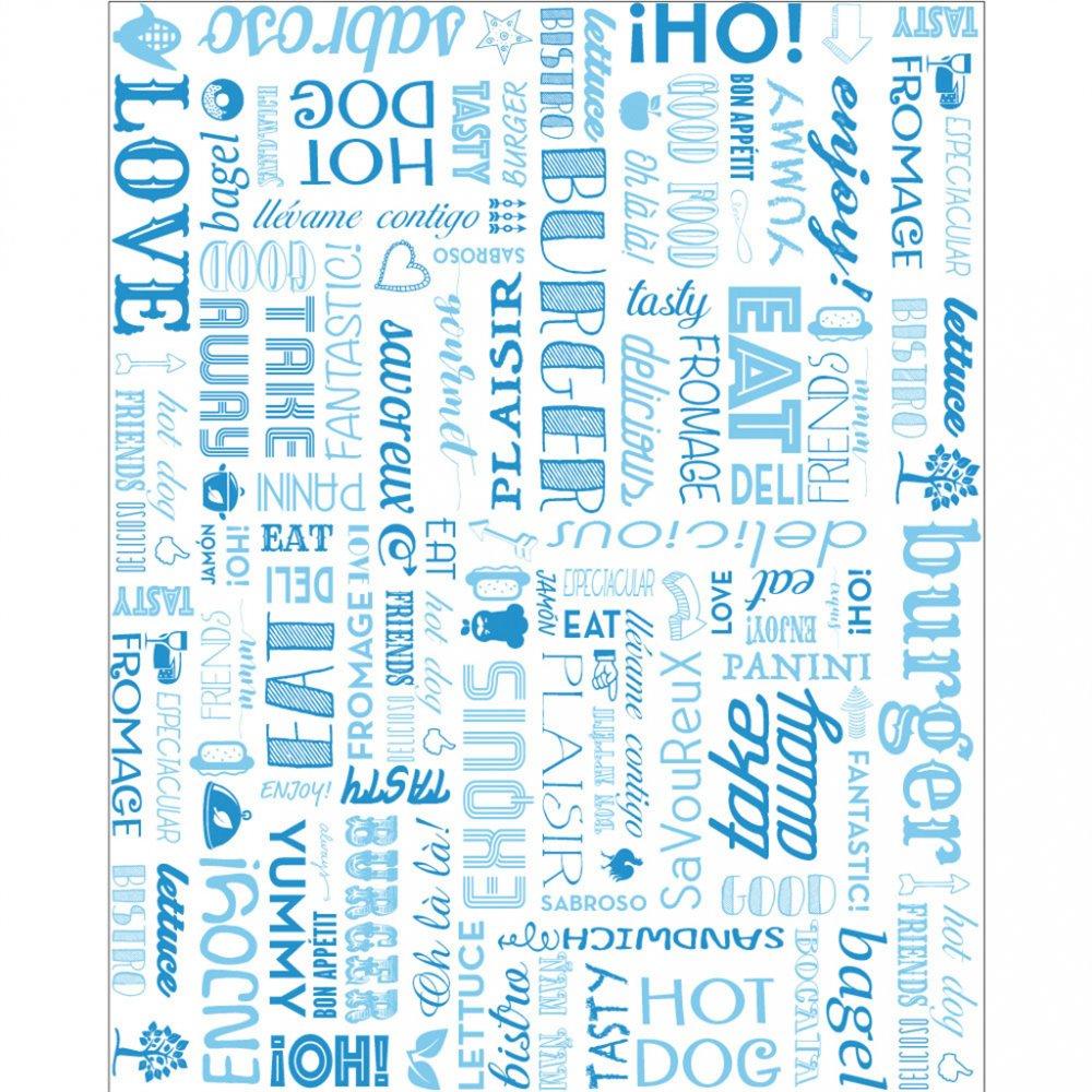 Упаковочная бумага Parole голубая, жиростойкий пергамент, 28*34 см, 1000 шт/уп