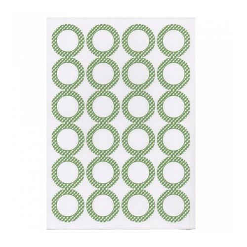 Этикетка самоклеящаяся белая, d 4,2 см, 24 шт*100 листов2)