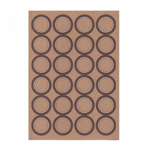 Этикетка самоклеящаяся крафт, d 4,2 см, 24 шт*100 листов