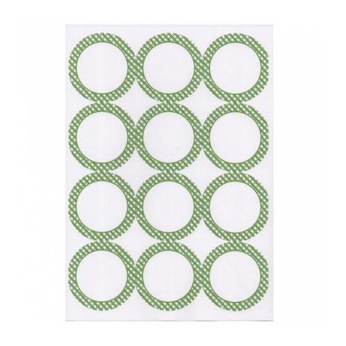 Этикетка самоклеящаяся белая, d 6,4 см, 12 шт*100 листов