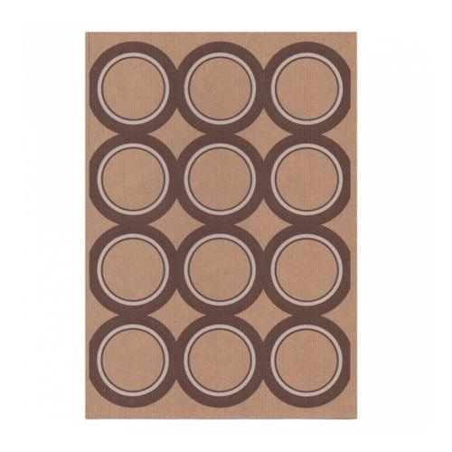Этикетка самоклеящаяся крафт, d 6,4 см, 12 шт*100 листов