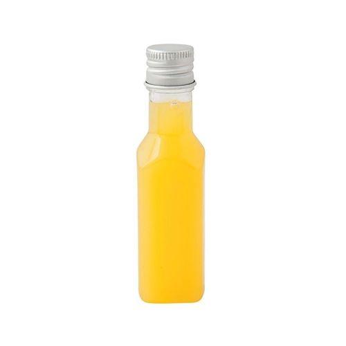 Бутылка прозрачная с алюминиевой крышкой 35 мл