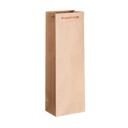 Пакет для вина с ручками крафт, 12,3+7,8*36 см, 10 шт/уп