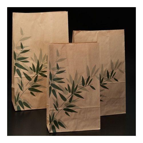 Пакет Feel Green крафт, 22+14*37 см, 500 шт/уп
