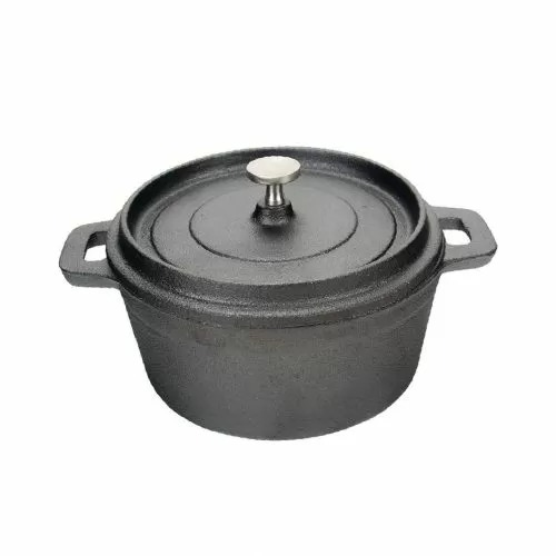 Кастрюля с крышкой P.L. Proff Cuisine порционная 500 мл, 12,5*6 см, чугун