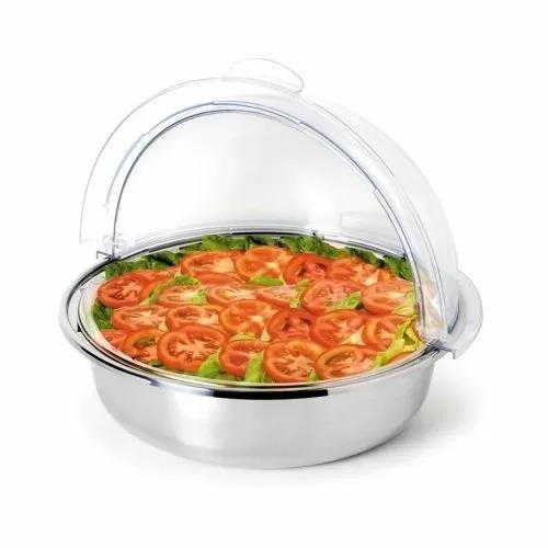 Поднос с пластиковой крышкой d 30 см, металл, P.L. Proff Cuisine