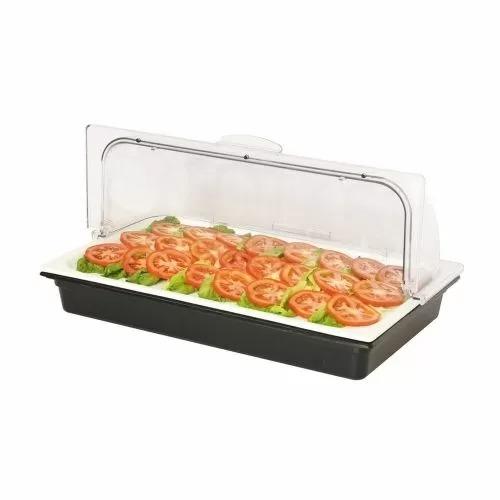 Поднос фарфоровый с пластиковой крышкой и емкостью для хладогена GN1/1, P.L. Proff Cuisine