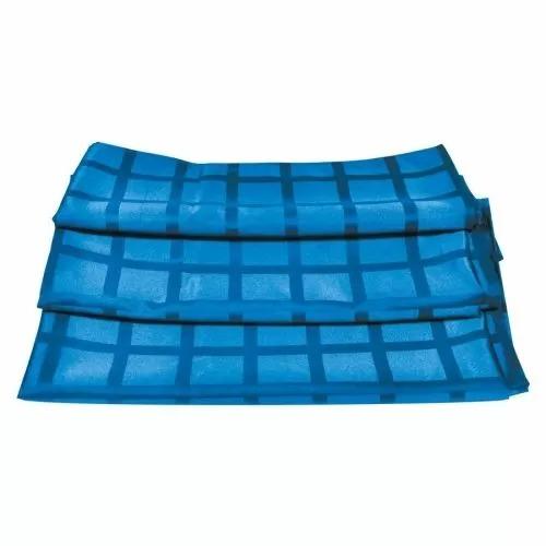Скатерть голубая 150*150 см, рисунок