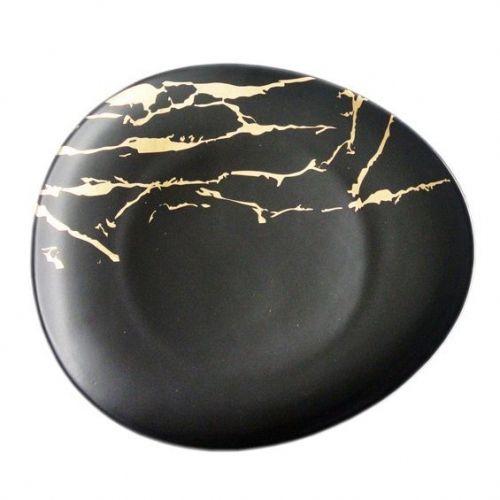 Тарелка Black Gold 29*26 см