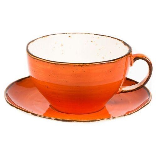 Чашка с блюдцем Fusion Orange Sky 375 мл
