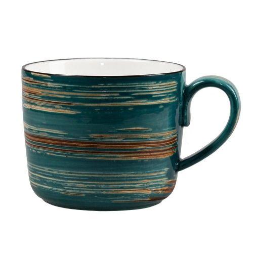 Чашка для супа Texture Dark Green Lines 550 мл (2)