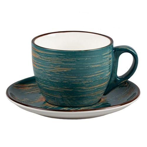 Чайная пара Texture Dark Green Lines 300 мл