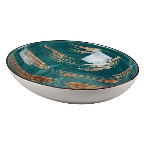 Тарелка Texture Dark Green Lines 19,3*25,9*5 см