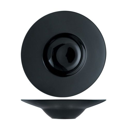 Тарелка глубокая P.L. Proff Cuisine 23 см, 175 мл, черная