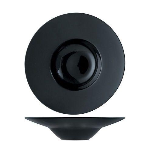 Тарелка глубокая P.L. Proff Cuisine 26,5 см, 300 мл, черная