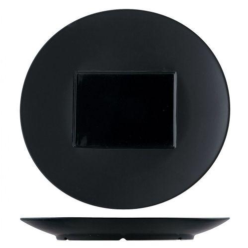 Тарелка овальная P.L. Proff Cuisine 29*28 см с прямоугольным центром, черная