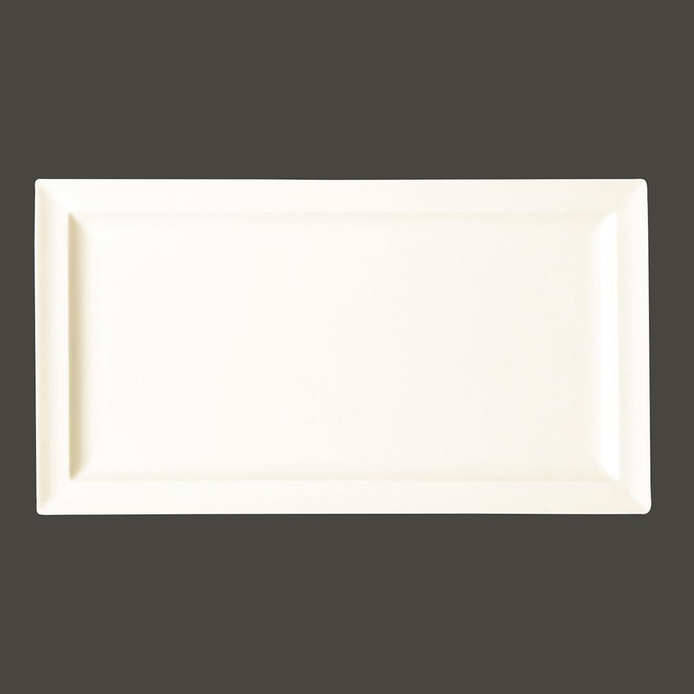 Тарелка прямоугольная 38x21 см., плоская, фарфор
