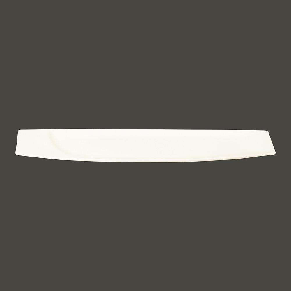 Тарелка прямоугольная 38x10.2 см., плоская, фарфор