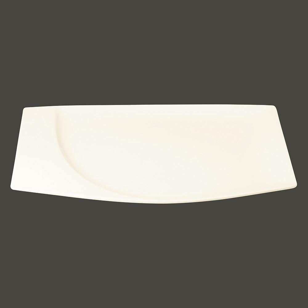 Тарелка прямоугольная 26x17 см., плоская, фарфор