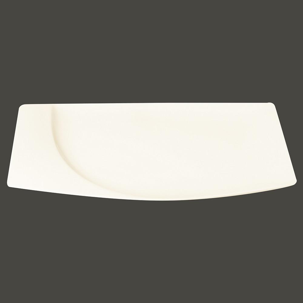 Тарелка прямоугольная 20x18 см., плоская, фарфор