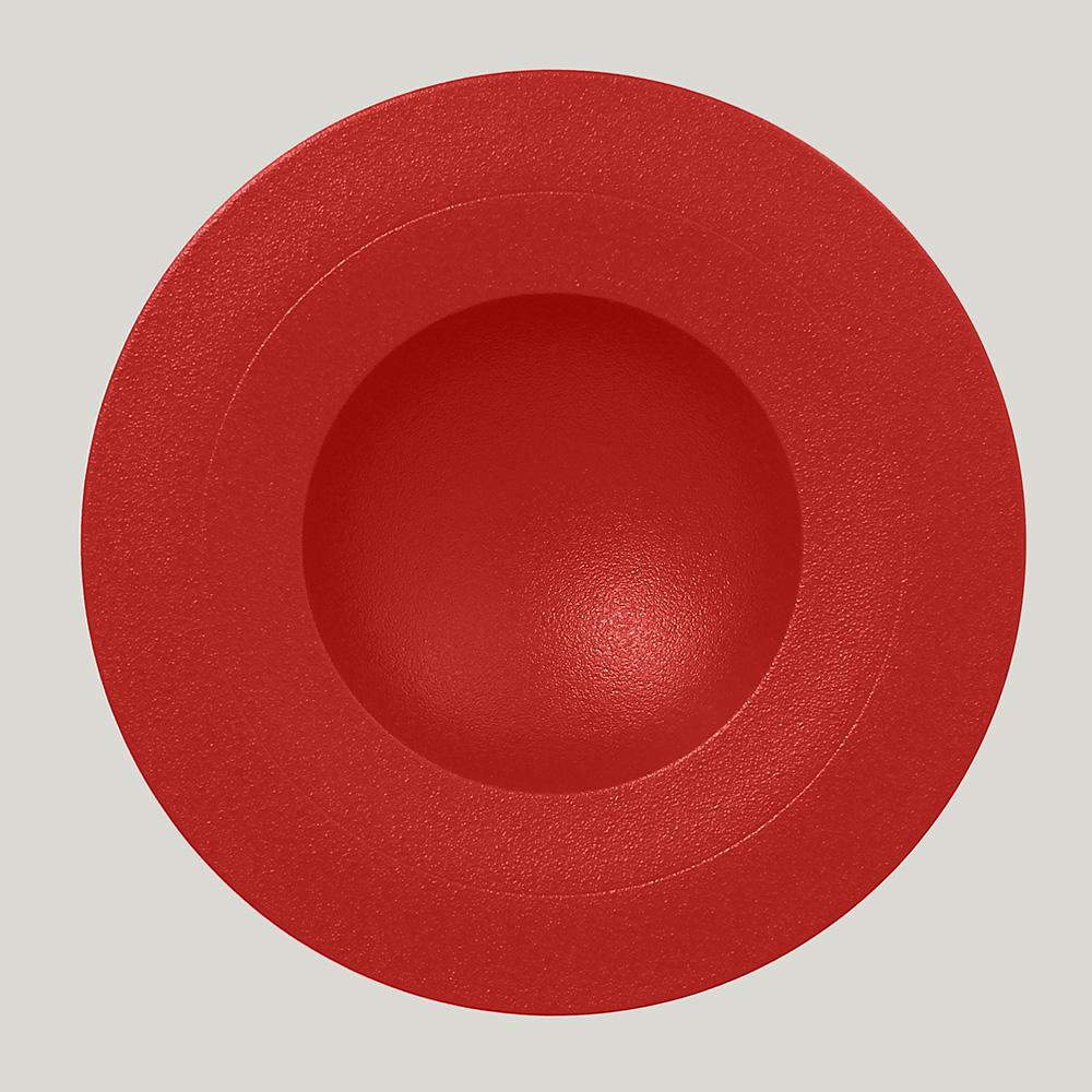 Тарелка  29 см (красный цвет)