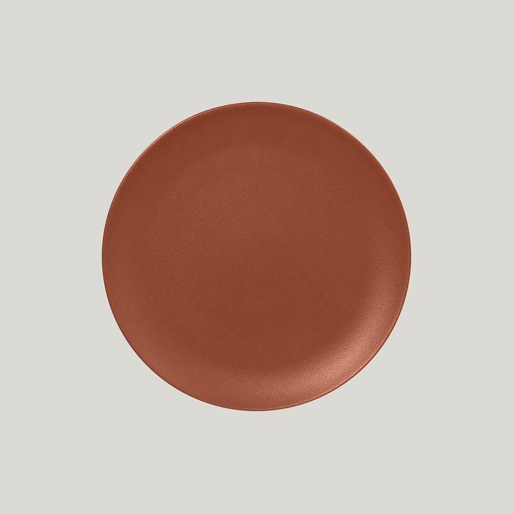 Тарелка  круглая плоская 21 см,  (медный цвет)