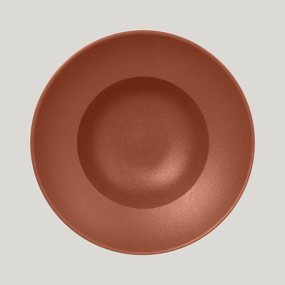 Тарелка  круглая глубокая 26 см,  (медный цвет)