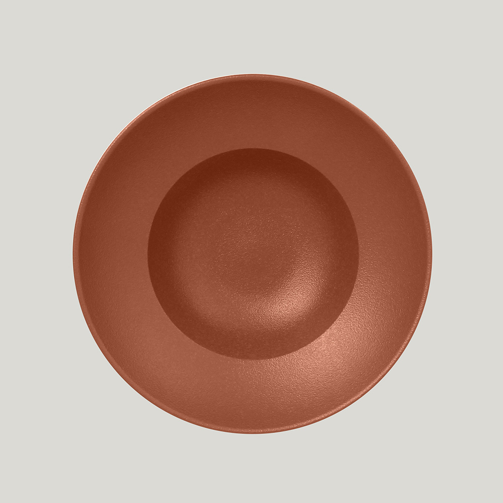 Тарелка  круглая глубокая 23 см,  (медный цвет)