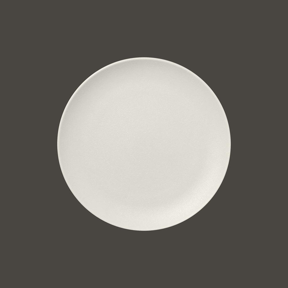 Тарелка NeoFusion Sand круглая плоская 21 см,  (белый цвет)