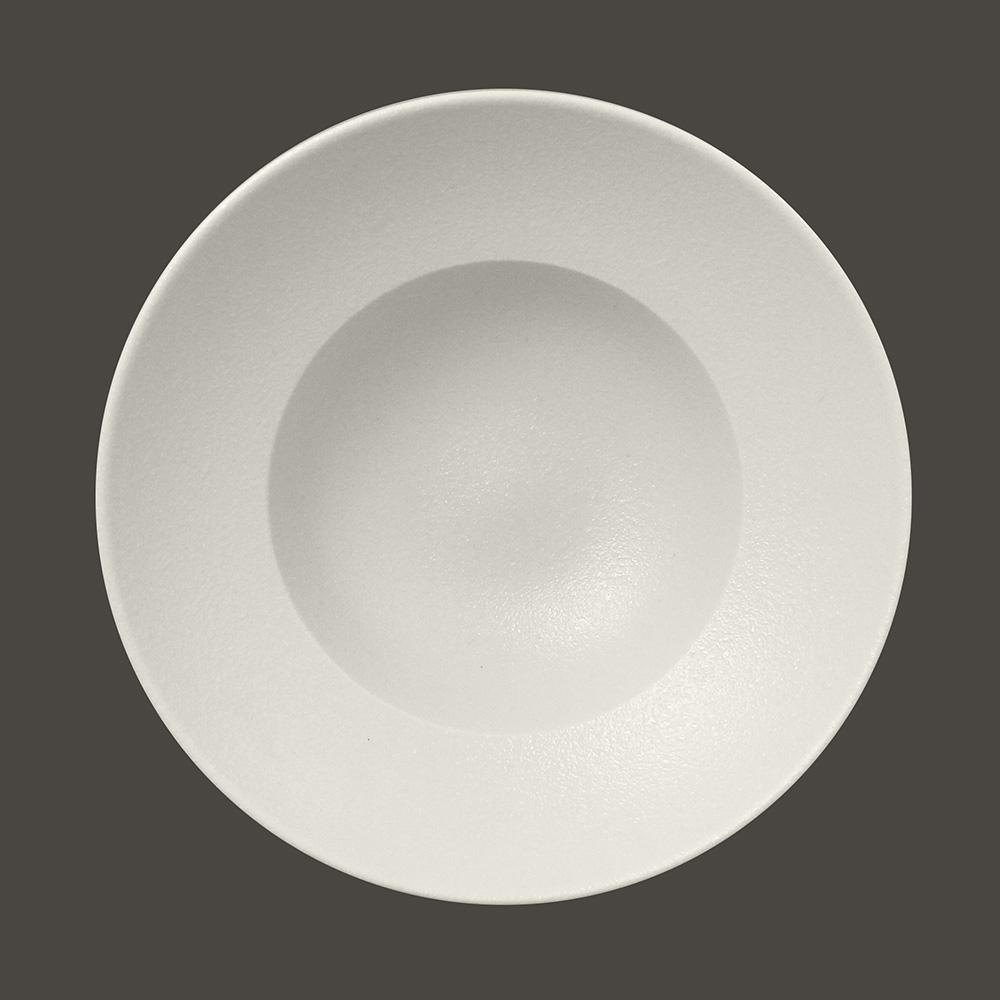 Тарелка NeoFusion Sand круглая глубокая 26 см,  (белый цвет)