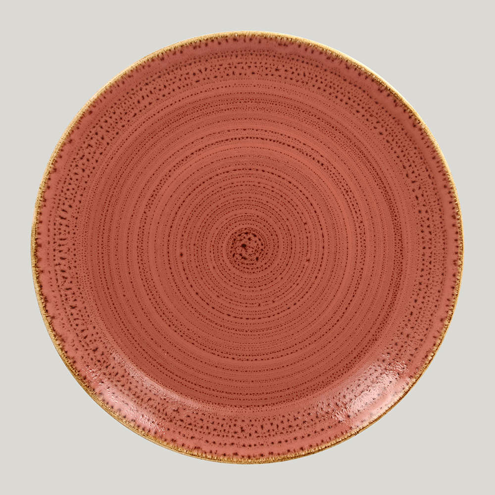 Тарелка плоская 31 см. - coral Twirl RAK