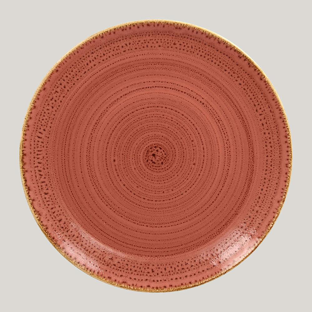 Тарелка плоская 28 см. - coral Twirl RAK